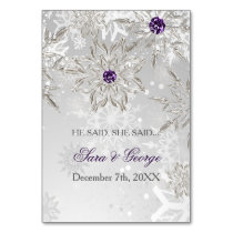silver He said, She said bridal shower game card