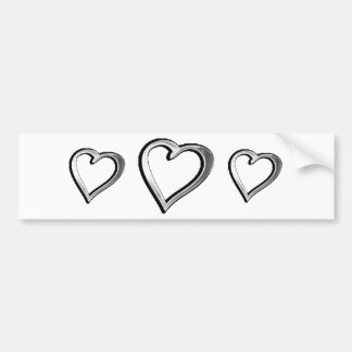 Silver Heart Bumper Sticker