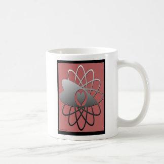 Silver Heart Classic White Coffee Mug