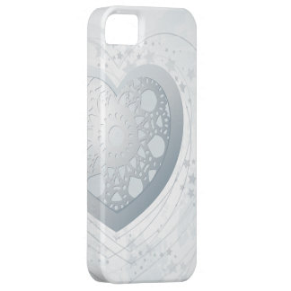 Silver heart, iPhone 5 case