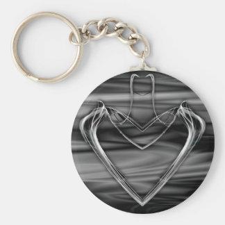 Silver Heart Keychain
