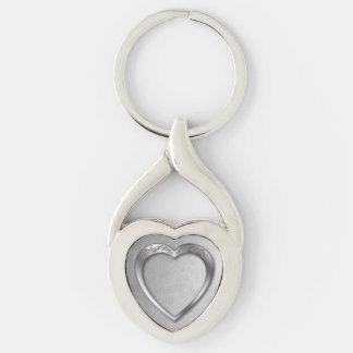 Silver Heart on Silver -Key Chain Keychain
