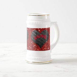 Silver Heart, Red LOVE - Valentine's Day Beer Stein