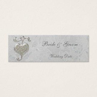 Silver Heart Thank You Wedding Favor Tag