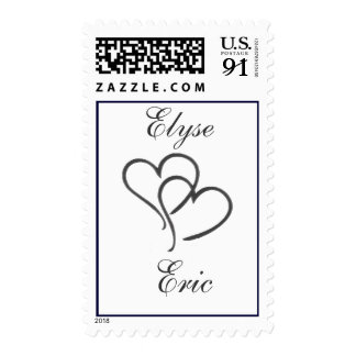 Silver heart with initials - diy - 85 cents postage stamps