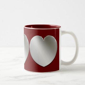 Silver Hearts Cool Mug