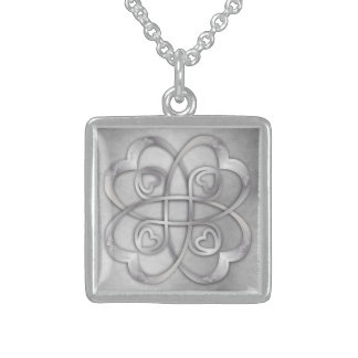 Silver Hearts Double Infinity - Necklace 3