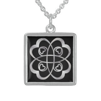 Silver Hearts Double Infinity - Necklace 4