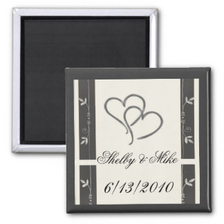 Silver hearts  - easy to customize magnet