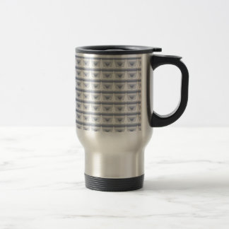 Silver Hearts in a Row Travel Mug