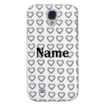 Silver hearts iPhone 3G/3GS Speck case Samsung Galaxy S4 Case