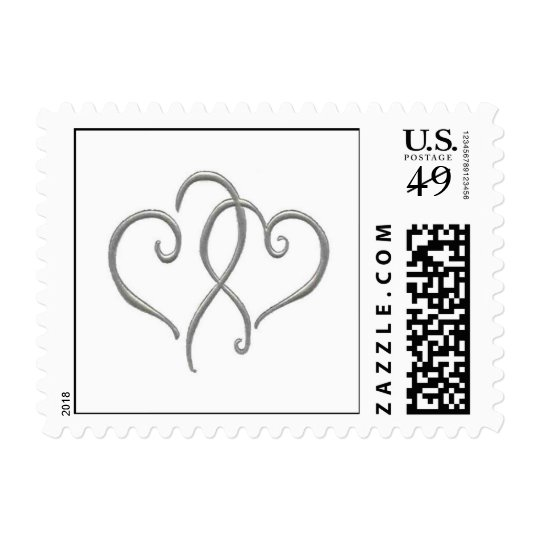 Silver Hearts Postage