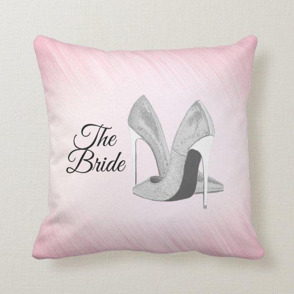 Silver Heels The Bride Throw Pillow