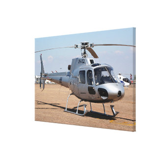 Silver Helicopter Canvas Print