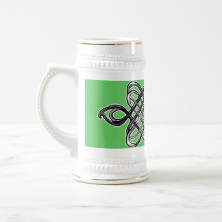 Silver Hexagon 18 Oz Beer Stein