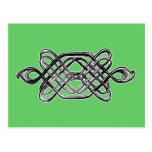 Silver Hexagon Postcard