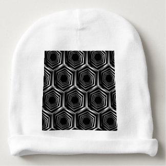 Silver hexagonal optical illusion baby beanie
