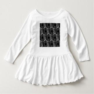 Silver hexagonal optical illusion dress