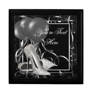 Silver High Heel Shoes Keepsake Gift Box