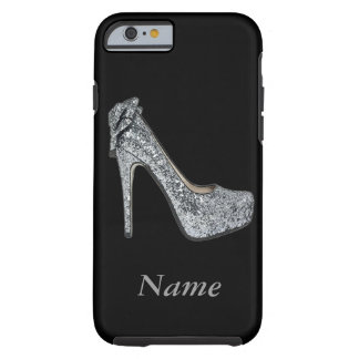 Silver High Heels add Text Tough iPhone 6 Case