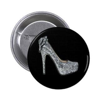 Silver High Heels Customize add Text Button