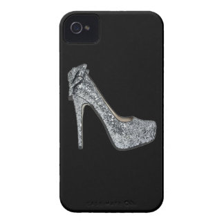 Silver High Heels Customize add Text iPhone 4 Cover