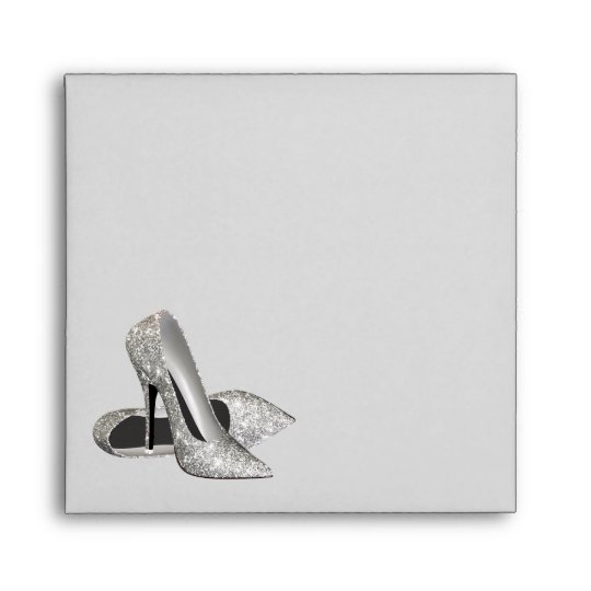 Silver High Heels Shoes Any Color Envelope