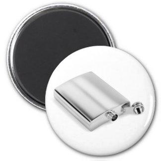 Silver hip flask magnet
