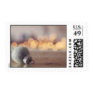 Silver Holiday Postage Stamps