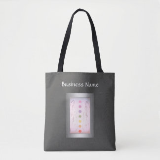 Silver Holistic Healing Hands design Tote Bag