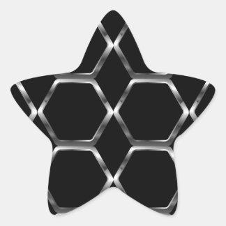 Silver honey cell background star sticker