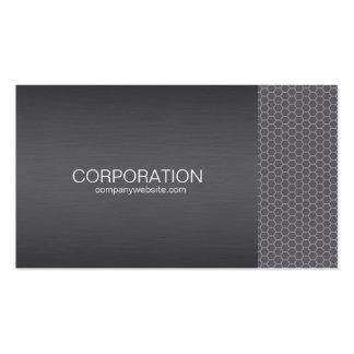 Silver honey comb elite business card