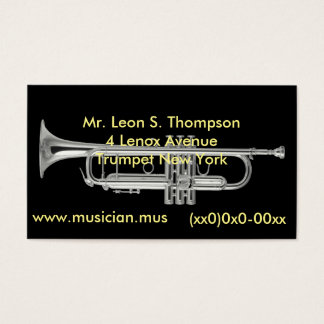 Silver horn business card