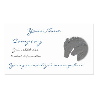 Silver Horse Heads Business Card