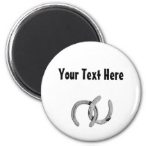Silver Horse Shoe Customizable Magnet