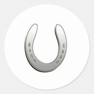 Silver Horse Shoe Sticker
