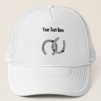 Silver Horse Shoes Customizable Hat