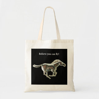 Silver Horse Tote Canvas Bags