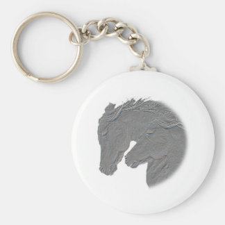 Silver Horses Keychain
