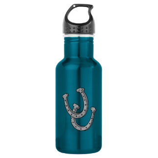 Silver Horseshoes Stainless Steel Water Bottle