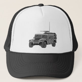 Silver Hummer Trucker Hat