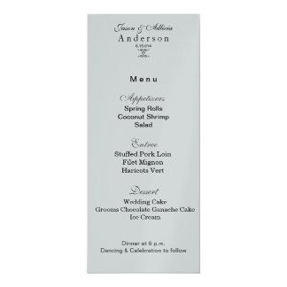 Silver Ice Menu Card for Weddings & Galas