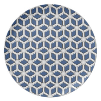Silver II Tiled Hex Plate