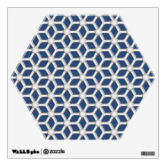 Silver II Tiled Hex Wall Decal