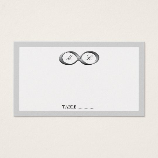 Silver Infinity Hand Clasp Wedding Place Card