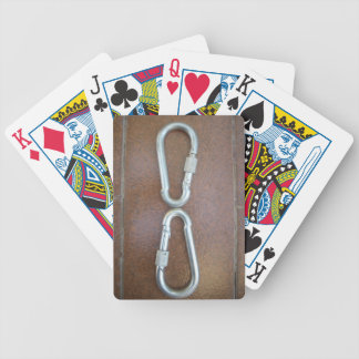Silver infinity bicycle playing cards