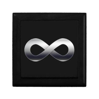 Silver Infinity Symbol Keepsake Box