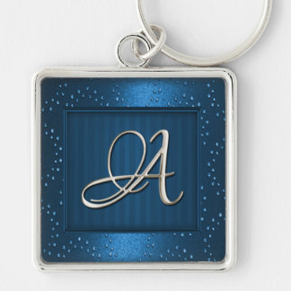 Silver Initial Keychain