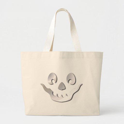 Silver JackOLantern Face Jumbo Tote Bag