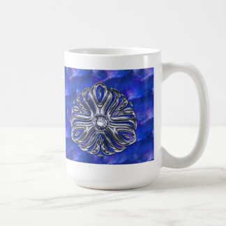 Silver Jewel en Bleu Coffee Mug